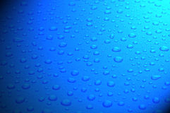 Droppar för blått vatten Royaltyfri Bild
