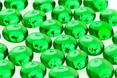 Droppar för grönt exponeringsglas Royaltyfria Foton