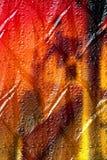 Droppar på en metall Royaltyfri Foto