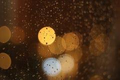 Droppar på exponeringsglas 2 Royaltyfri Bild