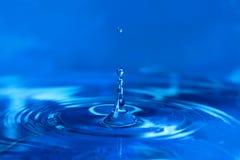 droppar som plaskar vatten Arkivbild
