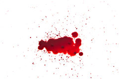 Droppe av blod Royaltyfri Fotografi