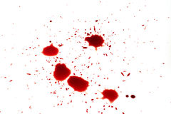 Droppe av blod Royaltyfria Bilder