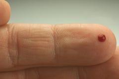 Droppe av blod Royaltyfri Foto