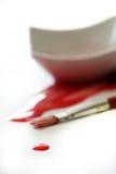 Droppe av röd målarfärg Royaltyfri Bild