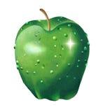 Droppe och ljus i en apple  Arkivbild