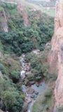 Droppe till floden Fotografering för Bildbyråer