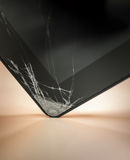 Dropped and cracked tablet Stock Images