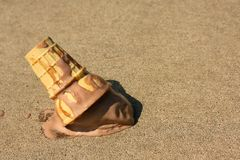 Dropped Ice Cream Cone Stock Photo
