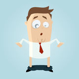 Dropped pants. Funny cartoon man with dropped pants Stock Photo