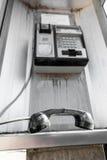 Dropped Public telephone handset Stock Image