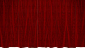 Dropped Red Curtain Stock Images