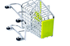 Dropped shopping trolley Stock Images