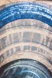 Dropped water in the bottle blue. Drop freshwater in bottle blue Stock Image