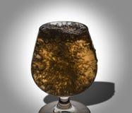 Droppen av vatten i vin Arkivfoto