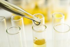 Dropper with test tubes. Closeup Royalty Free Stock Photo