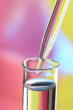 droppglassexponeringsglasprovrör Royaltyfria Bilder