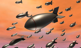 Dropping Bombs Stock Image