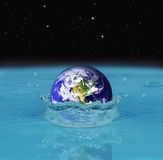Dropping earth Stock Photography