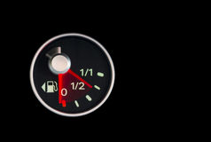 Dropping fuel gauge2 Royalty Free Stock Image