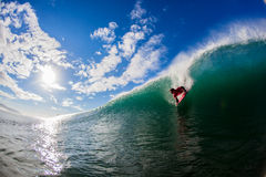Dropping Wave Body Boarder Stock Photo