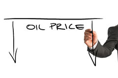 Dropping oil prices concept Royalty Free Stock Photo
