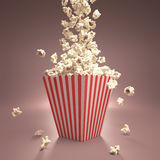 Dropping Popcorn Stock Images