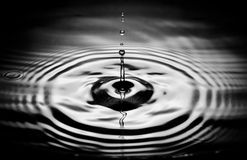 Dropping water. A drop of water Royalty Free Stock Image