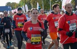 2016 09 25: droppMoskvamaraton Starta på 10 km Arkivbild