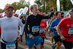 2016 09 25: droppMoskvamaraton Starten av 42na 0,85 km Arkivfoton