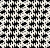 DroppShape för vektor sömlös svartvit rundad modell Fotografering för Bildbyråer
