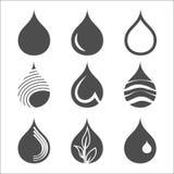 Droppsymbolsuppsättning royaltyfri illustrationer
