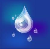 droppvatten Vektor Illustrationer