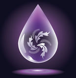 droppvatten stock illustrationer