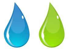 droppvektorvatten Arkivbilder