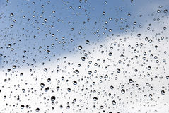 Drops. Of water on glass royalty free stock photos