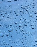 Drops. Of a rain on a metal surface Royalty Free Stock Image