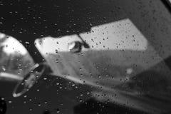 Drops. Rain drops on a car window Stock Images
