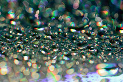 Drops. Abstract background of water drops on a CD - DVD Royalty Free Stock Photography