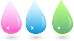 Drops. Varicoloured drops (pink, blue, green Stock Image