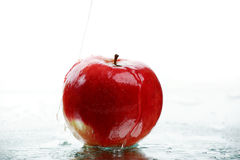 Drops on the apple Stock Image