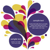 Drops Background. Background of multi-colored drops with two banners for your text stock illustration