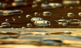 Drops,liquid,water,lens. Big water drops lens shape reflection liquid Stock Image