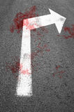 Drops of blood on the asphalt road. Stock Photo