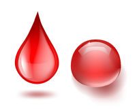Drops of blood Royalty Free Stock Photos