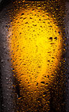 Drops on a bottle beer. Stock Photo