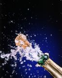 Drops of champaign Stock Images