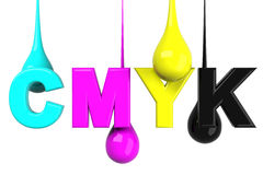 Drops in CMYK Stock Images