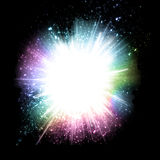 Drops Explosion Background with rainbow Colours Stock Images