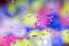 Drops on glass Stock Image